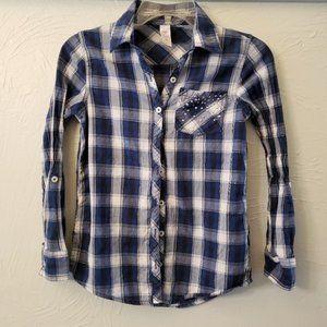 BOGO Justice New Girls Plaid Button Shirt